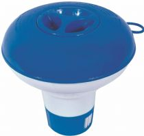 "Spa or Swimming Pool 5"" Inch Bromine or Chlorine Chemical Floater Dispenser Blue"